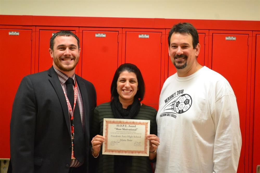 "H.O.P.E. Award Winner – ""Most Motivational"" Maria Porter"