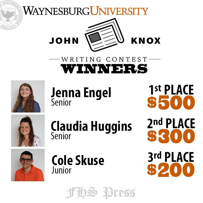Waynesburg's John Knox Writing Contest