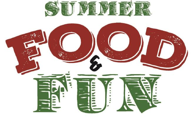 Food and Fun!  Free for all kids 18 and under!  Please click here for more information.
